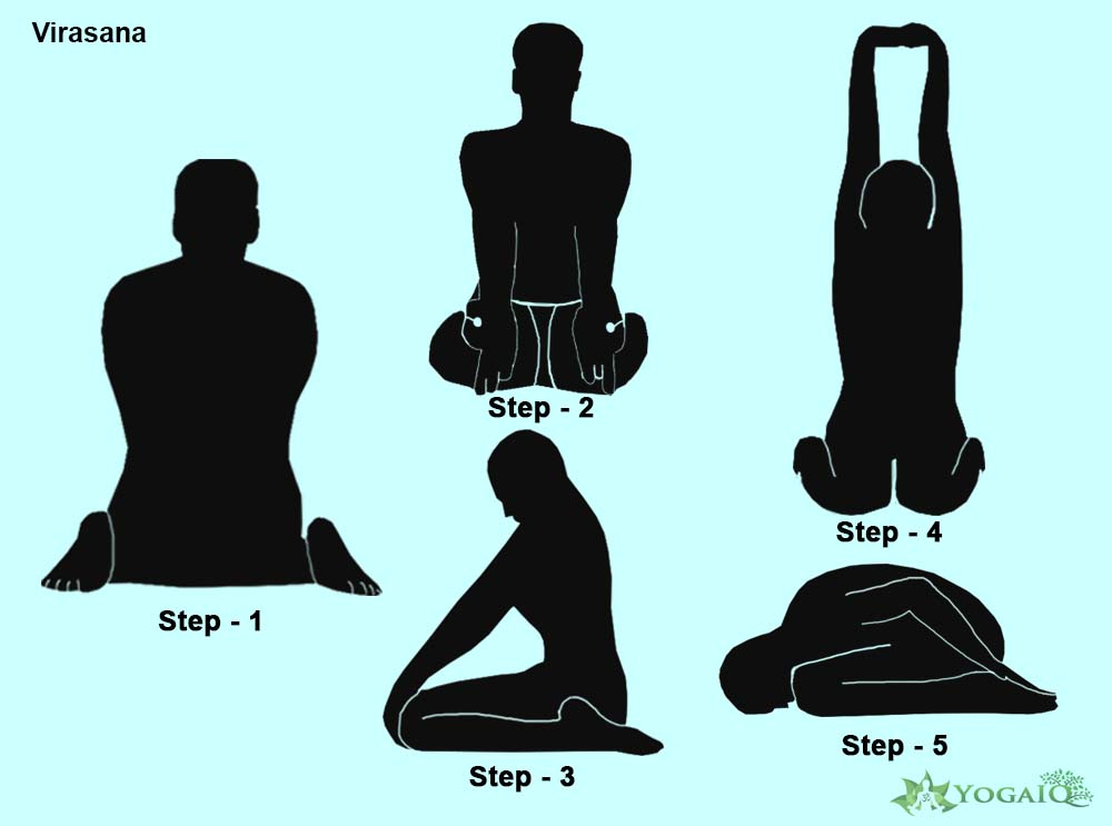 Virasana Yoga step by step