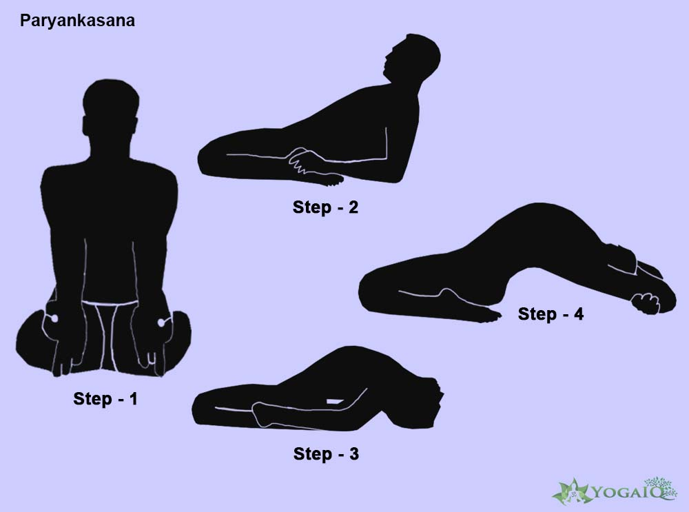 Paryankasana Yoga step by step