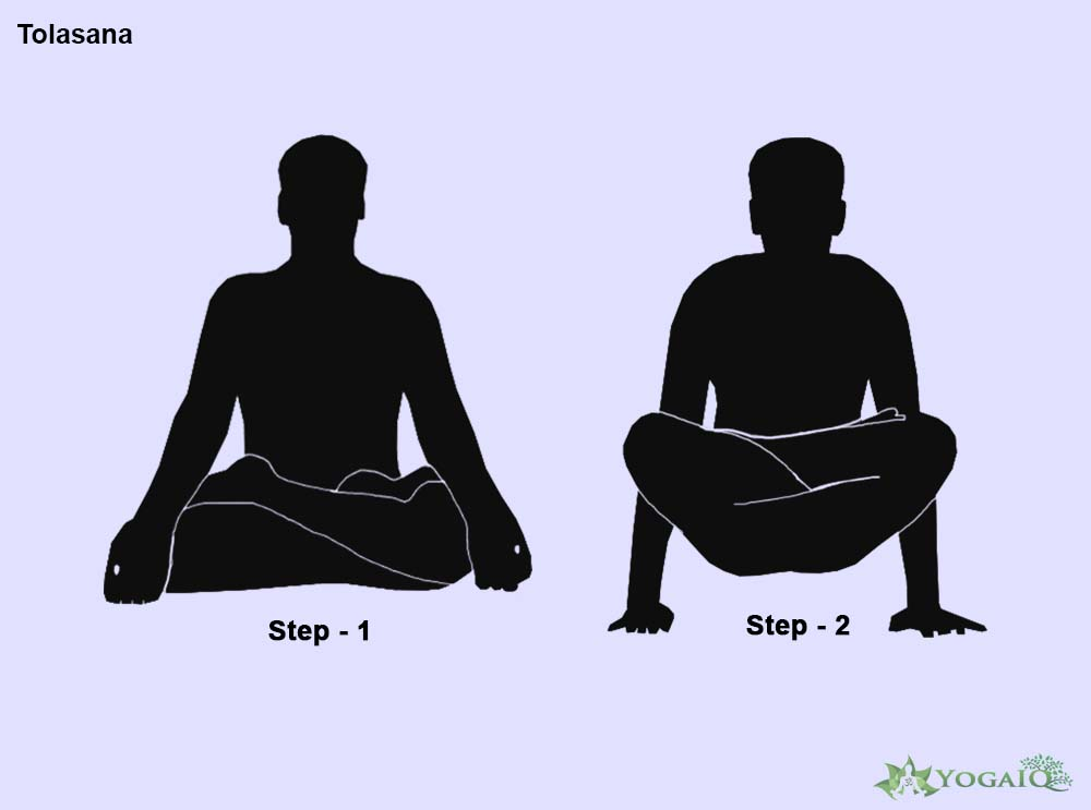 Tolasana Yoga step by step
