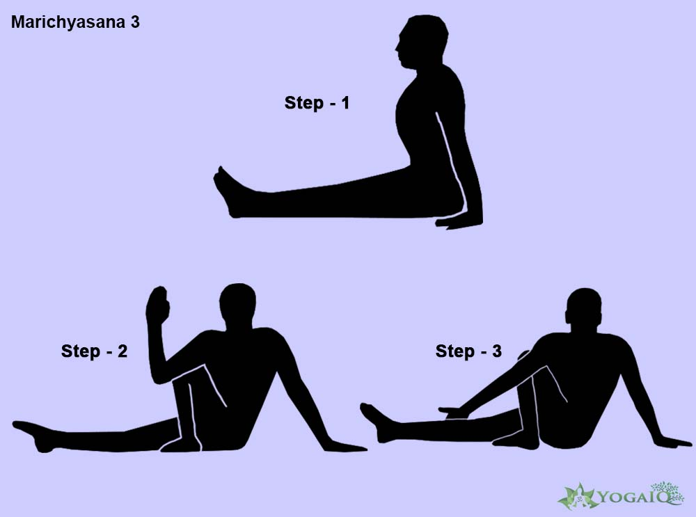 Marichyasana 3 Yoga step by step