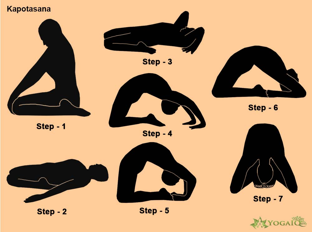 Kapotasana Yoga step by step