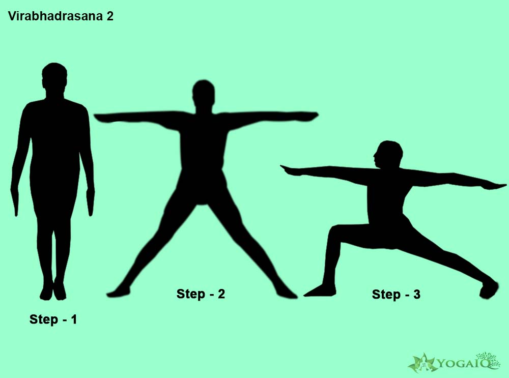 Virabhadrasana 2 Yoga step by step
