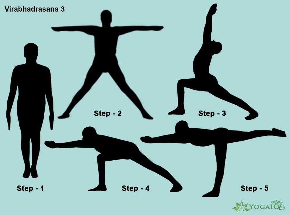 Virabhadrasana 3 Yoga step by step